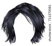 trendy woman's disheveled hair  ... | Shutterstock .eps vector #711370081