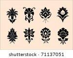 persian flowers | Shutterstock .eps vector #71137051