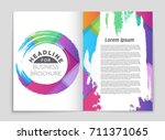 abstract vector layout... | Shutterstock .eps vector #711371065