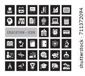 education icons set  vector... | Shutterstock .eps vector #711372094