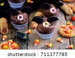 """chocolate cupcakes """"bats"""" and... 