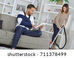 young man with injured arm at...   Shutterstock . vector #711378499