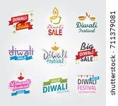 diwali festival header.... | Shutterstock .eps vector #711379081