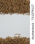 overhead of cereal bran sticks... | Shutterstock . vector #711379117