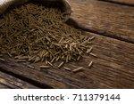 cereal bran sticks spilling out ... | Shutterstock . vector #711379144