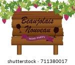 beaujolais nouveau vector...   Shutterstock .eps vector #711380017