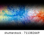 sparkling dots. abstract... | Shutterstock .eps vector #711382669