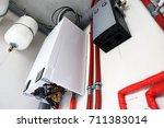 new gas boiler | Shutterstock . vector #711383014