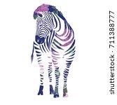 zebra  animal  vector ... | Shutterstock .eps vector #711388777