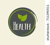 100  organic vector logo design | Shutterstock .eps vector #711390511