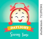 banner for daylight saving time ... | Shutterstock .eps vector #711392341