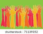 hands success   Shutterstock .eps vector #71139352