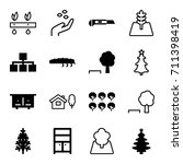tree icons set. set of 16 tree... | Shutterstock .eps vector #711398419