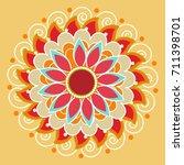 beautiful rangoli design based...   Shutterstock .eps vector #711398701