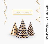 party hat or abstract christmas ... | Shutterstock .eps vector #711399631