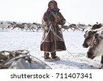 nadym  russia   march 18  2017... | Shutterstock . vector #711407341