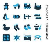 Cartoon Icons Set. Set Of 16...