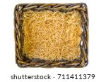 yellow paper ribbons in a... | Shutterstock . vector #711411379