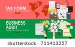tax calculation  budget... | Shutterstock .eps vector #711413257