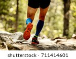 sole running shoes feet man and ... | Shutterstock . vector #711414601