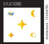 flat icon bedtime set of... | Shutterstock .eps vector #711426781