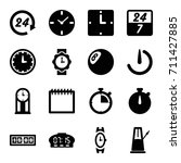 time icons set. set of 16 time... | Shutterstock .eps vector #711427885