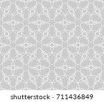 seamless geometric line pattern.... | Shutterstock .eps vector #711436849