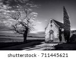 small church sainte anne  end... | Shutterstock . vector #711445621