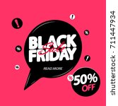black friday sale  discount 50  ... | Shutterstock .eps vector #711447934