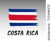 flag of costa rica    grunge | Shutterstock .eps vector #711448375