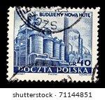 poland   circa 1960s  a stamp... | Shutterstock . vector #71144851