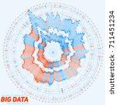 big data circular visualization.... | Shutterstock .eps vector #711451234