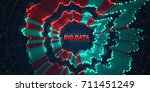 big data circular visualization.... | Shutterstock .eps vector #711451249