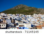 view of the village chaouen or... | Shutterstock . vector #71145145