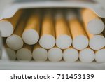 a box full of cigarettes  ... | Shutterstock . vector #711453139