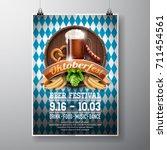 oktoberfest poster vector... | Shutterstock .eps vector #711454561