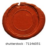 empty wax seal  on white | Shutterstock . vector #71146051