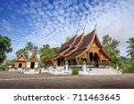 wat chiang thong temple at... | Shutterstock . vector #711463645