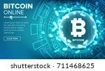 bitcoin abstract technology... | Shutterstock .eps vector #711468625
