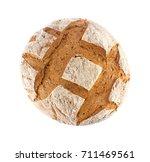 freshly baked domestic rye... | Shutterstock . vector #711469561
