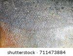 texture of pacu fish fish scale ... | Shutterstock . vector #711473884