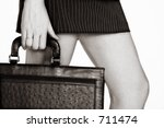 businesswoman in short skirt... | Shutterstock . vector #711474