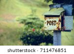 Old Rusty Letter Box   Post