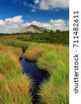 Small photo of Snezka mountain and peat bog