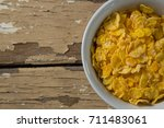 bowl of wheaties cereal on...   Shutterstock . vector #711483061