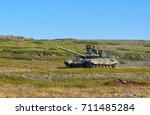 rybachiy peninsula  russia   18 ... | Shutterstock . vector #711485284