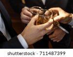 multiethnic group of... | Shutterstock . vector #711487399