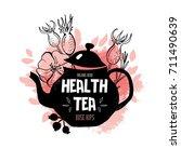 herbal tea label design.... | Shutterstock .eps vector #711490639