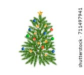 tree  green christmas fir tree  ... | Shutterstock . vector #711497941