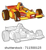 coloring page   isolated racing ... | Shutterstock . vector #711500125